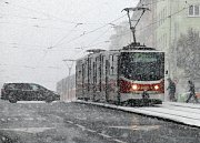 Sněhová kalamita v Praze. Ilustrační foto.