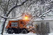 Sněhová kalamita v Praze.