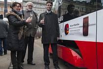 Křest 200. vozu tramvaje 15T se jménem významného reprezentanta ve vzpírání v těžké váze Václava Pšeničky proběhl 9. února v Praze.