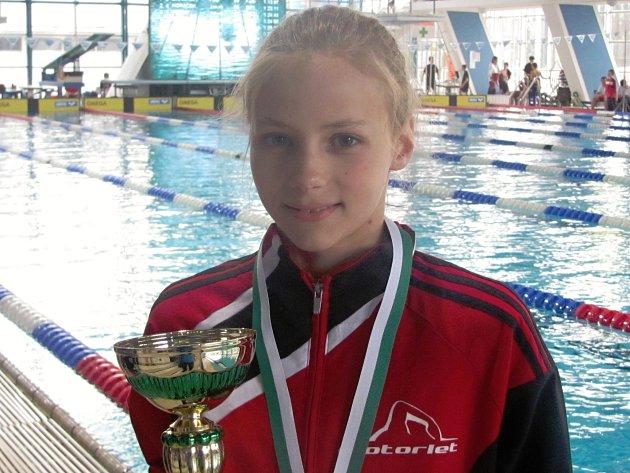 Barbora Seemanová, nejlepší mladší žákyně Jarní ceny Prahy v plavání.