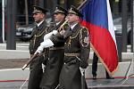 Slavnostní přehlídka u příležitosti oslav 100 let od založení Československa.