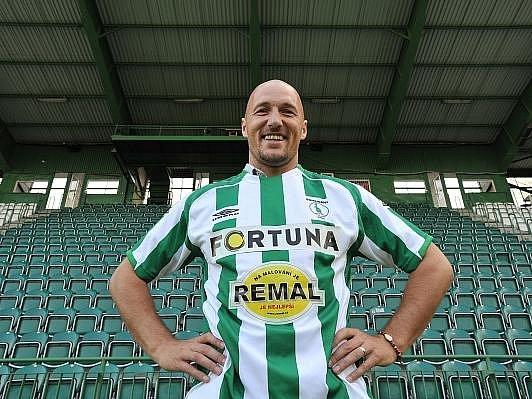 KANONÝR. Luděk Zelenka se v dresu Bohemians 1905 může pokusit zapsat do klubu ligových kanonýrů. Do stovky gólů mu jich chybí osm.