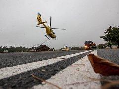 Vrtulník ZZS. Ilustrační foto.