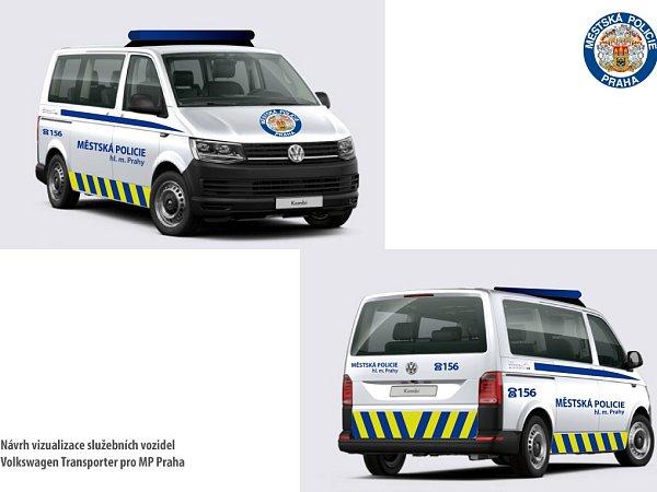 Nové policejní vozy pražských strážníků.