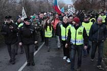Pochod příznivců Miloše Zemana z Letné na Betlémské náměstí.