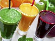 Ovocné a zeleninové šťávy. Ilustrační foto.