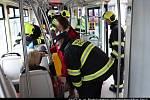 U Tančícího domu se srazily dvě tramvaje