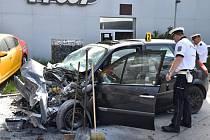 Nehoda ve Vrchlického ulici.