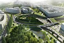 Zelená Malovanka bude realizována bez pěších lávek, naopak stěny porostlé rostlinami chybět nebudou.