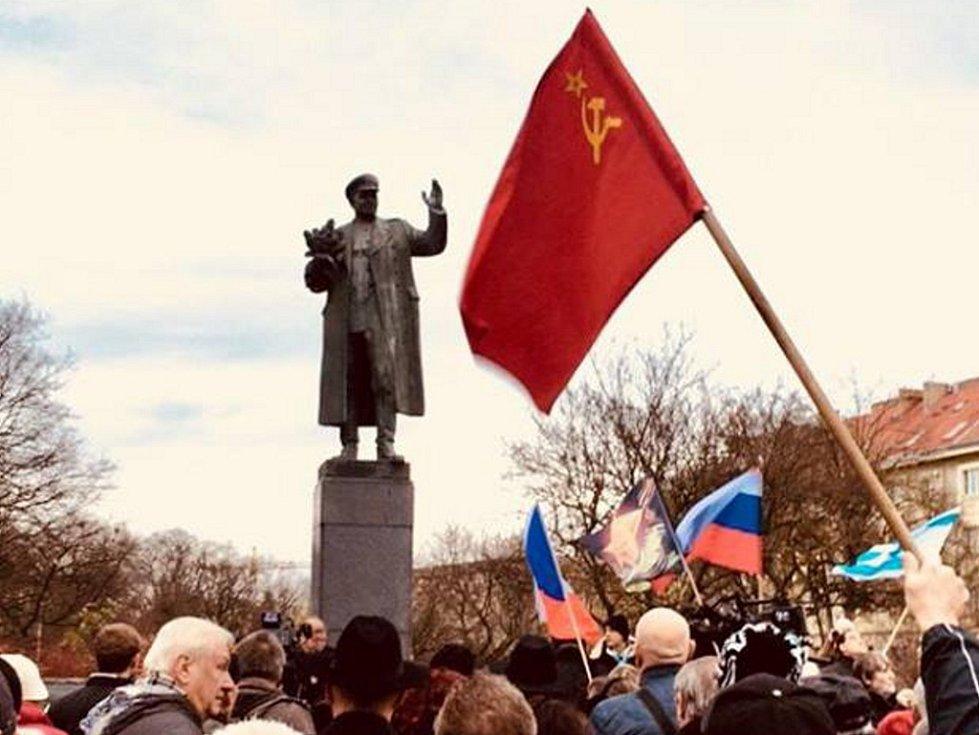 Pomník maršála Koněva. Ilustrační foto.
