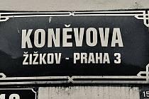 Praha 3 na základě petici občanů uvažuje o přejmenování Koněvovy ulice.