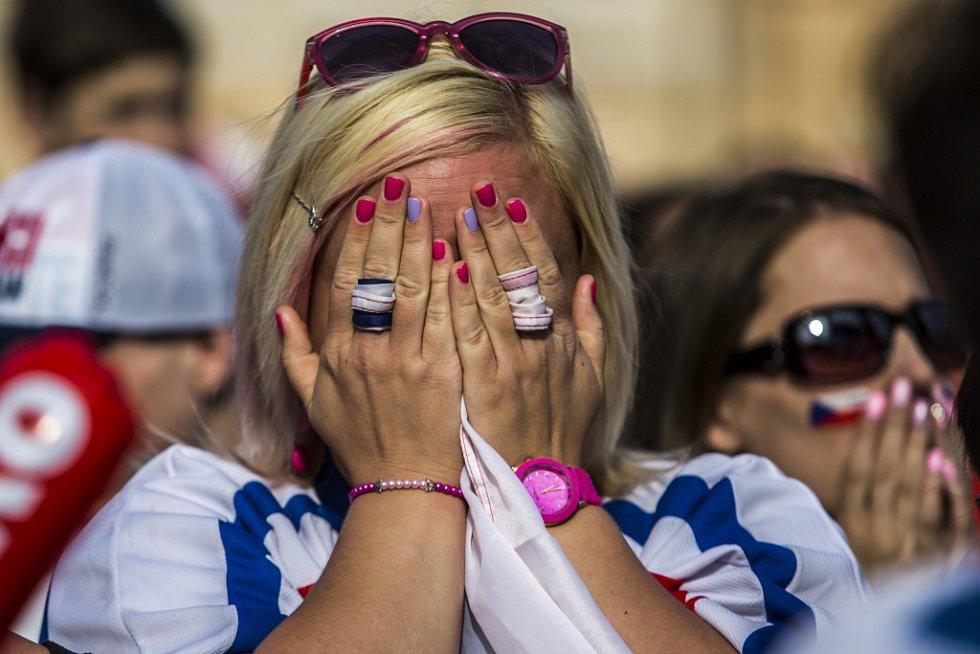 Lidé opět fandili českým hokejistům v zápase o bronz.