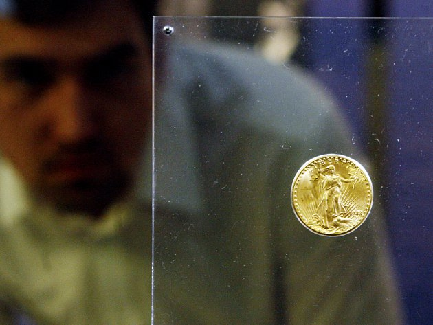 Americká dvacetidolarová zlatá mince Double Eagle je od 12. března vystavena na dva dny v pražském Národním muzeu.
