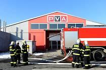Požár na výstavišti v Letňanech.