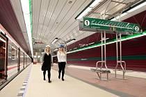 Bořislavka, jedna z nových stanic pražského metra na trase A. Ilustrační foto.