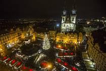 Staroměstské náměstí o Vánocích. Ilustrační foto.