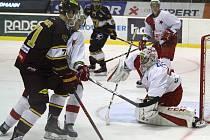 Chance liga, 4. kolo: Slavia - Jihlava 2:1 (2:0, 0:0, 0:1)