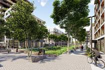 Parková čtvrť. Pro přeměnu severní části Nákladového nádraží Žižkov vybrala Central Group v architektonickém workshopu sedm ateliérů, které vytvoří návrhy jednotlivých budov. Autorem urbanistické koncepce je architekt Jakub Cigler.