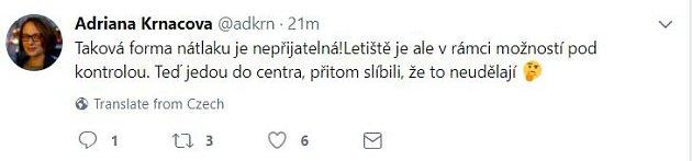 A. Krnáčová ke stávce pražských taxikářů.