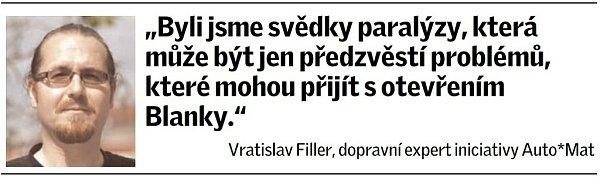 Citát Vratislava Fillera, dopravního experta iniciativy Auto*Mat.