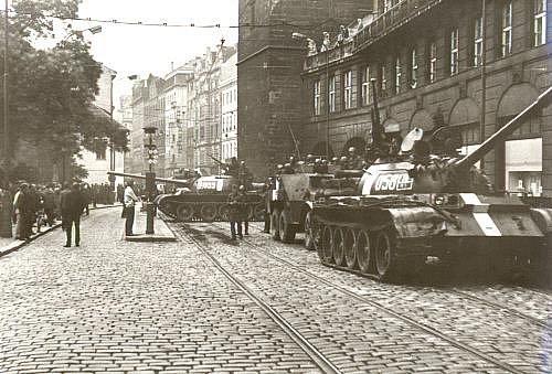 Ulice Prahy 21.srpna 1968.