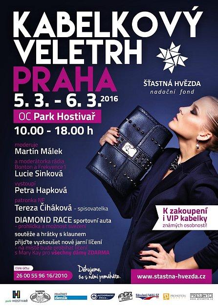 Pozvánka na Kabelkový festival vObchodním centru Park vpražské Hostivaři.