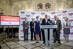 Top 09 zahájila 4. září v Praze svoji kampaň do podzimních parlamentních voleb.