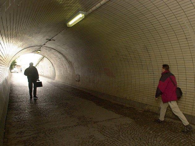 Tunel pod pražským Vítkovem.