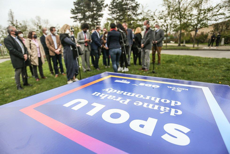 Představení pražské kandidátky koalice SPOLU se na Petříně konalo v sobotu 1. května 2021.