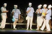 Na snímku divadelní soubor Hluchavky léčivé během představení Semínka ve znakové řeči.