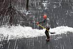 Olympijský park na Letné je pod sněhem,slavnostní otevřené je plánováno na 6.února. Letná 28.ledna
