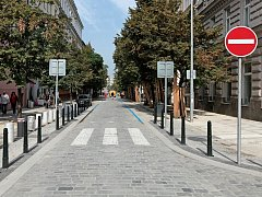 Belgická ulice po rekonstrukci.