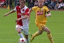 Z utkání Slavia - České Budějovice 0:2.