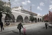Vizualizace využití oblouků Negrelliho viaduktu.