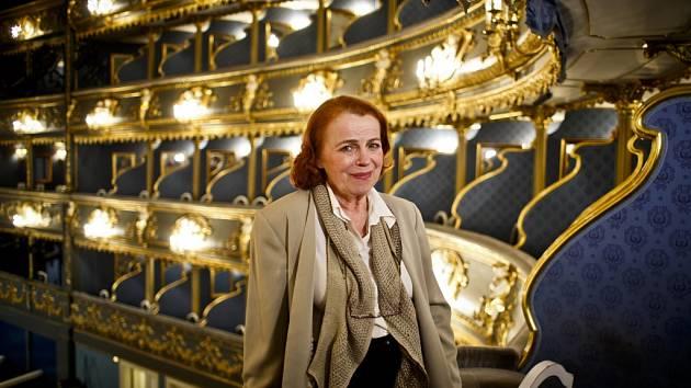Herečka Iva Janžurová ve Stavovském divadle v Praze.