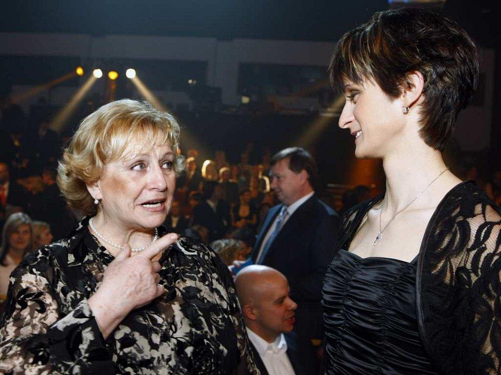 Martina Sáblíková a Věra Čáslavská.