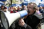 Demonstrace v Praze v sobotu 21.dubna na Václavském náměstí.