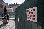 Pražský hrad 31. května v Praze. Rekonstrukce Nejvyššího purkrabství Pražského hradu.