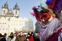 Masopustní rej 11. února na pražském Staroměstském náměstí.