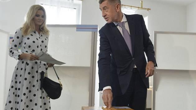 Andrej Babiš u voleb do Evropského parlamentu