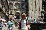 Cestovatel Ladislav Zibura ve španělského města Santiago de Compostela.