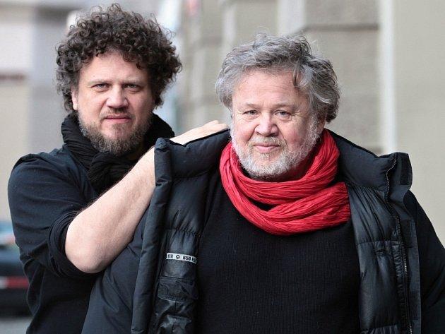 Fotograf Antonín Kratochvíl se synem Michaelem.