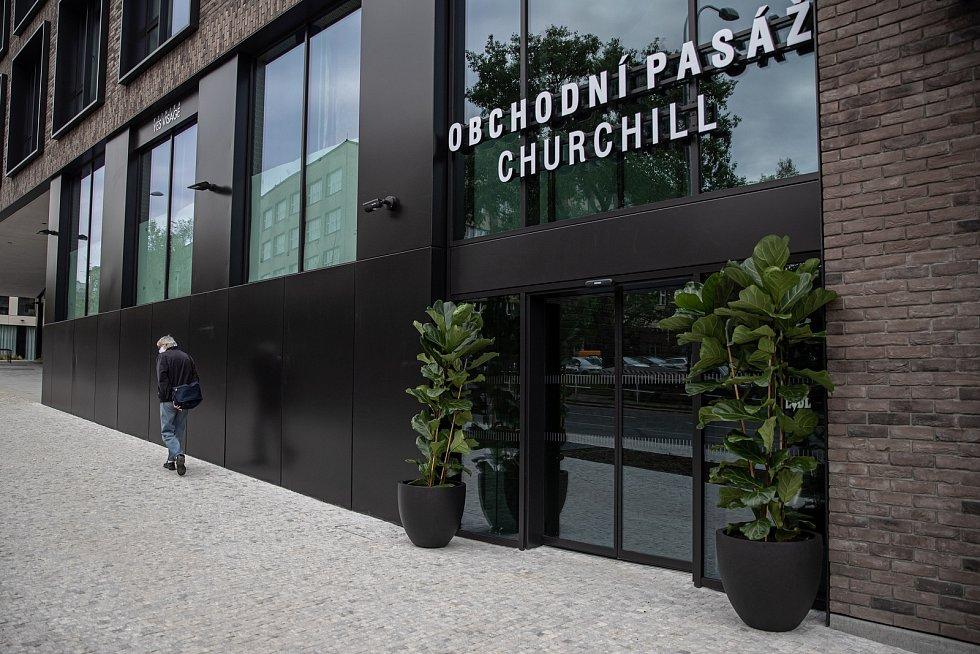 Slavnostní otevření obchodní pasáže Churchill proběhlo 4. května 2020 v Praze.