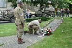 Památník 4. obrněné divizi v Písku, který vznikl z iniciativy Richarda Prause v roce 2015.