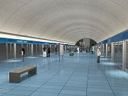 Návrh podoby stanice metra trasy D - Návrh podoby stanice metra trasy D - Náměstí Míru.