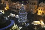 Slavnostní rozsvícení vánočního stromu na Staroměstském náměstí v Praze.