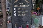 Olšanské hřbitovy, hrob Jiřího Schelingera.