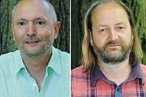 Průkopníci ekologického zemědělství v České republice Karel Matěj (vlevo) a Martin Hutař.
