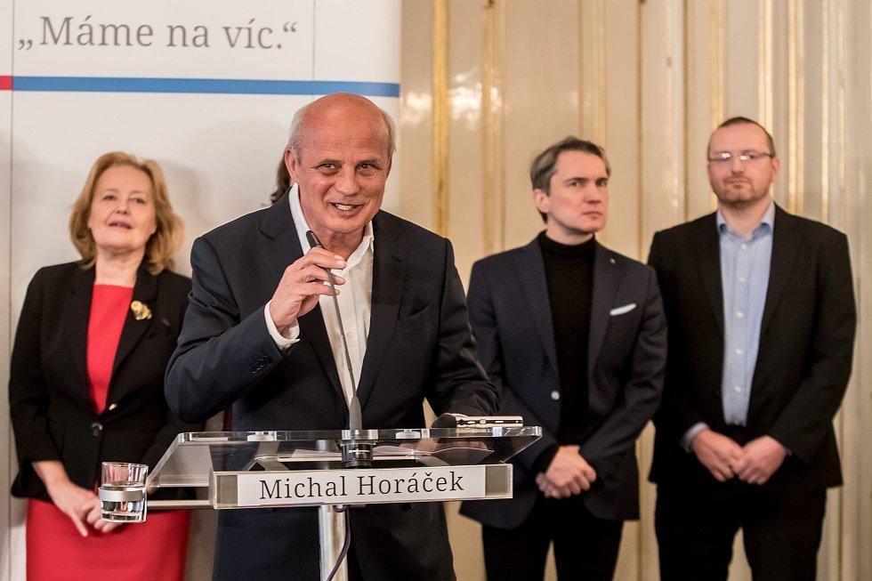Textař Michal Horáček představil své poradce.