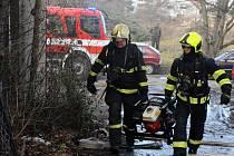 Požár v bývalém areálu Letov nezpůsobil škody ani zranění